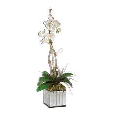 Faux Kaleama Orchid Planter, White