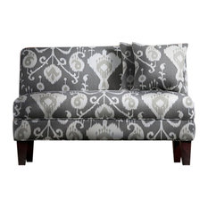 Briley Armless Loveseat Java Pewter