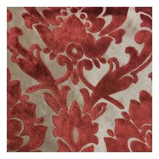 Radcliffe Burnout Velvet Damask Upholstery Fabric, Henna