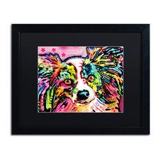 """Dean Russo 'Papillon 9149' Framed Art, Black Frame, 16""""x20"""", Black Matte"""