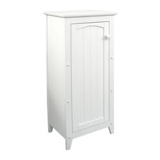 Pemberly Row Wood Storage Cabinet In White
