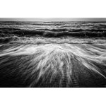 """Pi Photography Wall Art and Fine Art - Washing Out to Sea Black & White Nature Photo Unframed Wall Art Print, 24""""x36"""" - Washing Out to Sea, Black and White Nature Photography: Coastal Sandy Beach - Luster Photo Paper Unframed Wall Art Print"""
