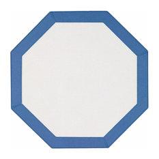 Bordino Octagon Vinyl Placemats, Periwinkle, Set of 4