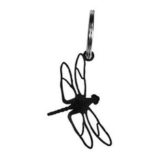 Wrought Iron Dragonfly Keychain Key Ring