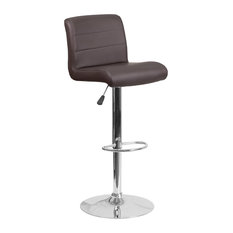 Flash Furniture Faux Leather Adjustable Bar Stool In Brown