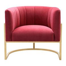 Magnolia Velvet Chair, Hot Pink