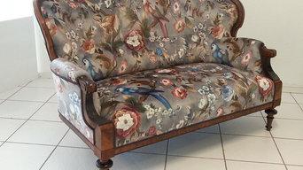 Soffa fr 1860-talet, blandstil  nyrokoko/nyrenässans