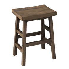 Brikk Chancellor Reclaimed Wood Counter Stool With Wooden Legs Bar Stools And