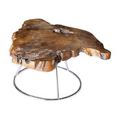 Fusto Coffee Table, Solid Teak Root, Low