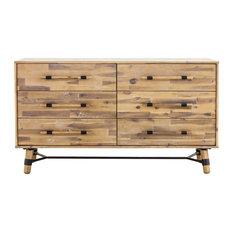 Hudson 6 Drawer Low Dresser