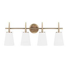 sea gull lighting four light wallbath satin bronze bathroom vanity lighting - Lowes Bathroom Lighting