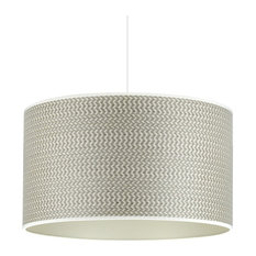 Grey and Champagne Pendant Lampshade, Without Accessories, 35 cm