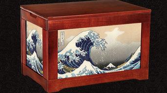 Kindling Box - Hokkusai -  the Great Wave