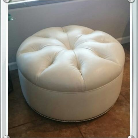 Reupholstery Of Round Ottoman