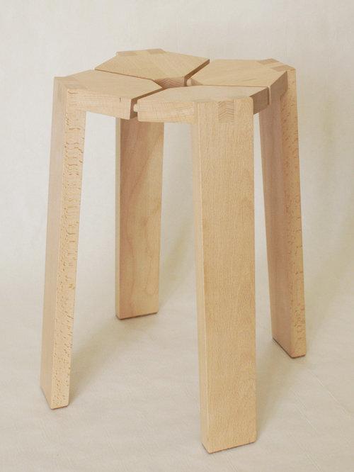 Petit tabouret en bois - Chaise Pliante et Tabouret