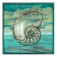 Tile Mural, Contour Elements 4 by Charlene Audrey