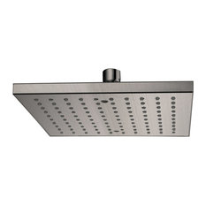 Dawn Single Function Rectangle Rain Showerhead, Brushed Nickel