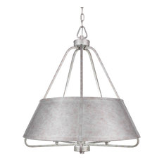 Sonora 5 Light Chandelier In Aged Silver Finish (1127-AS)