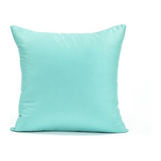 """Solid Powder Blue Accent, Throw Pillow Cover, 16""""x16"""""""