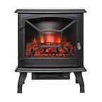 "AKDY 20"" Black Freestanding Electric Fireplace 3D Flames Firebox Logs Heater"