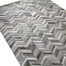 MOD - Amaya Cowhide Area Rug, Gray, 9'x12' - Area Rugs