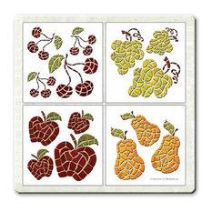 Harvest Accents Peel and Stick Tiles, 4-Piece Set