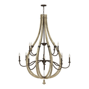 Hinkley Middlefield Chandelier Extra Large Open Frame Two Tier