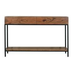 Springdale Natural Finish 2 Drawer Console Table