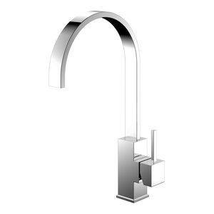 Reflection Kitchen Mixer Tap, High Gloss Stainless Steel