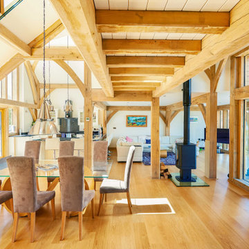 An oak frame contemporary home in North Wales