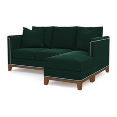 La Brea Reversible Chaise Sofa, Evergreen Velvet