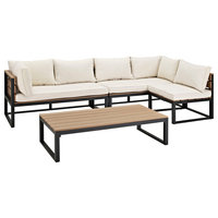 Offex 4 Piece All Weather Patio Conversation Set - Natural