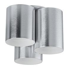 Vistal 3-Light Flush Mount, Aluminum