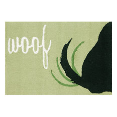 "Frontporch Woof Rug, Light Green, 30""x48"""