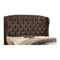 Felisa Upholstered Wingback Headboard Two Tone Espresso Queen