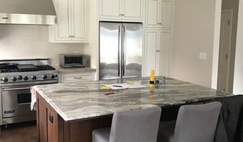 White cabinets with stain steel handles