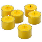 Shop A Candle - Unscented Tealight Candles With Clear Cups, Set of 36, Yellow Citronella - Yellow Citronella Smokeless Tealight Candles