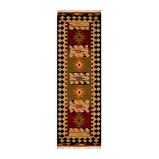 Caucasian Kazak 404 Runner, Multi, 68x235 cm