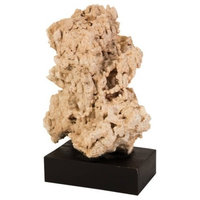 "18"" L Artisan Sculpture Stalagmite on Wood Stand Stone"