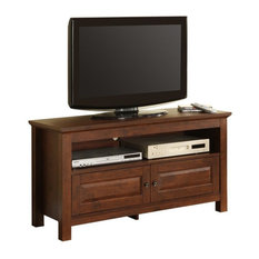 44 Inch Wood TV Console In Traditional Brown