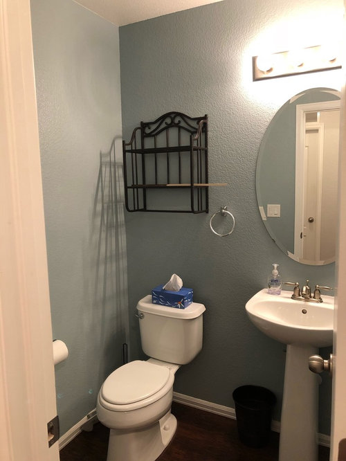 2 Ditch Cur Metal Rack And Have Hubby Build New Wood Ones 3 Ideas For Walls Next To In Front Of Toilet I Was Considering Corner Shelves