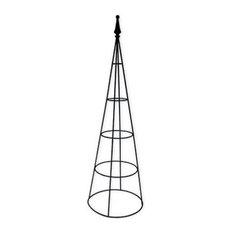 Border Concepts 72202 Wrought Iron Plant Pillar, Black