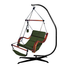 Hammaka Suelo Stand and Hunter Green Nami Chair Combo