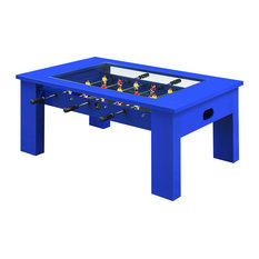 Foosball Coffee Table Telescopic Rods Great For Endless Entertainment  Blue
