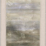 Paragon - Sit Next to Me I - A soft abstract is hand deckled and mounted to a fabric wrapped wood board.