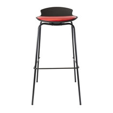 Uliss Furniture Design - Carmen Bar Stool, Red and Black - Bar Stools and Kitchen Stools