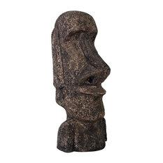 "48"" Large Tropical Easter Hawaii Island Ahu Akivi Moai Monolith Statue Sculpture"