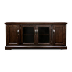 Leick Riley Holiday 56-inch Corner TV Stand In Chocolate Cherry