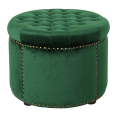 Admirable 50 Most Popular Green Ottomans And Footstools For 2019 Houzz Forskolin Free Trial Chair Design Images Forskolin Free Trialorg