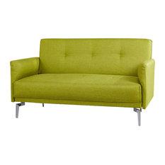 Emma Fabric Modern Loveseat, Green